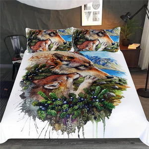 Wolf Family Bedding Set