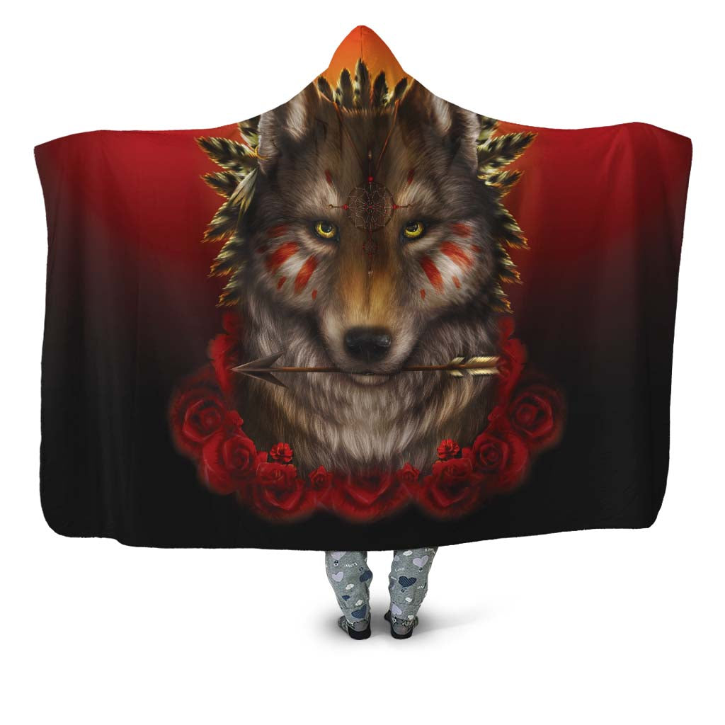 Khalia's Wolf Warrior Hooded Blanket