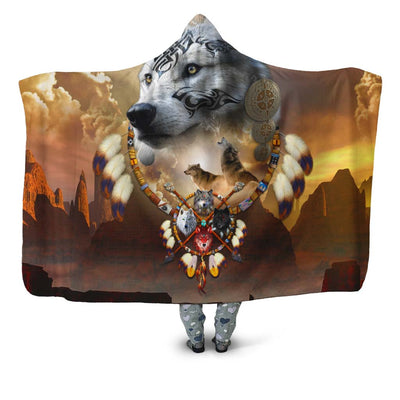 Songs of the Elder Warrior Hooded Blanket