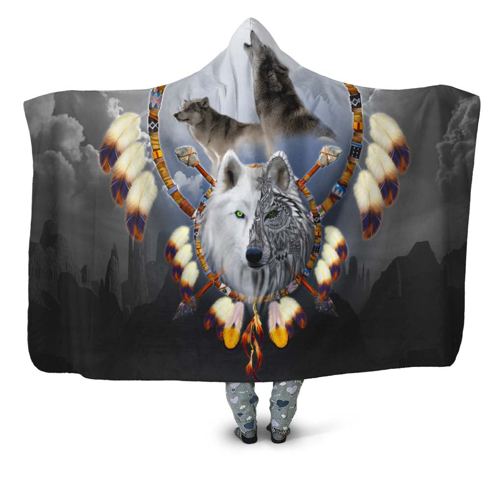Omega Wolf Hooded Blanket