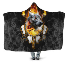Load image into Gallery viewer, Fire Wolf Chief Hooded Blanket