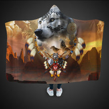 Load image into Gallery viewer, Songs of the Elder Warrior Hooded Blanket