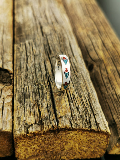 Native American Arrowhead Ring 925 Sterling Silver