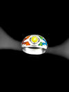 Rainbow Opal Pride Ring in 925 Sterling Silver