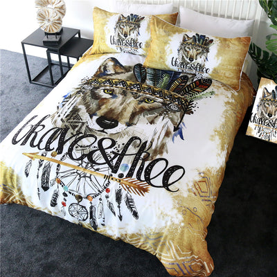 Indian Wolf Bedding Set