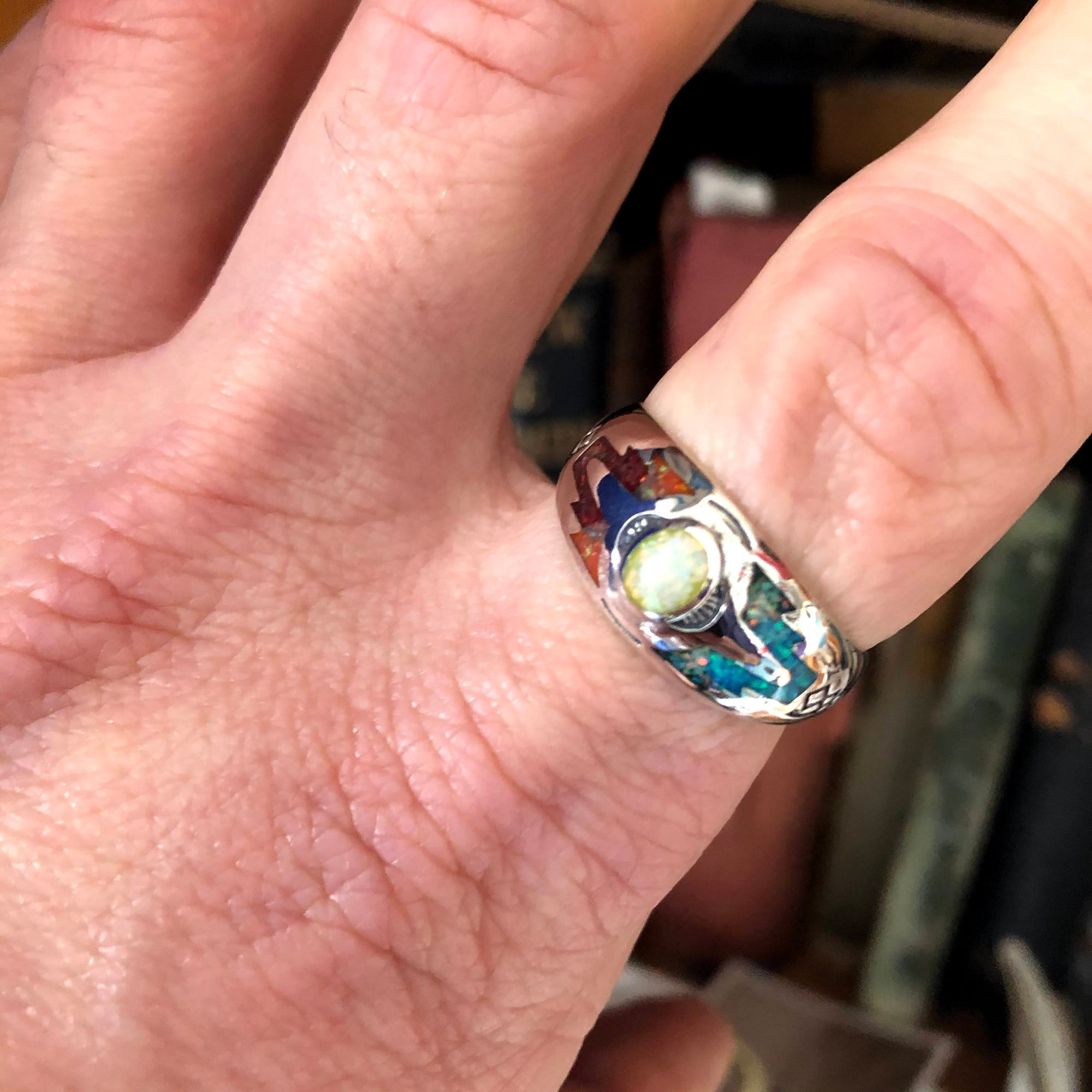 Rainbow Ring (Size 6)