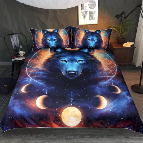 Dreamcatcher Wolf by JoJoesArt Bedding Set 3pcs