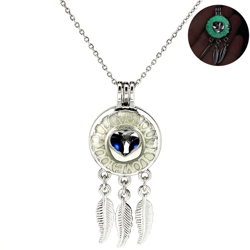 Hearts and Dream Catcher Pendant
