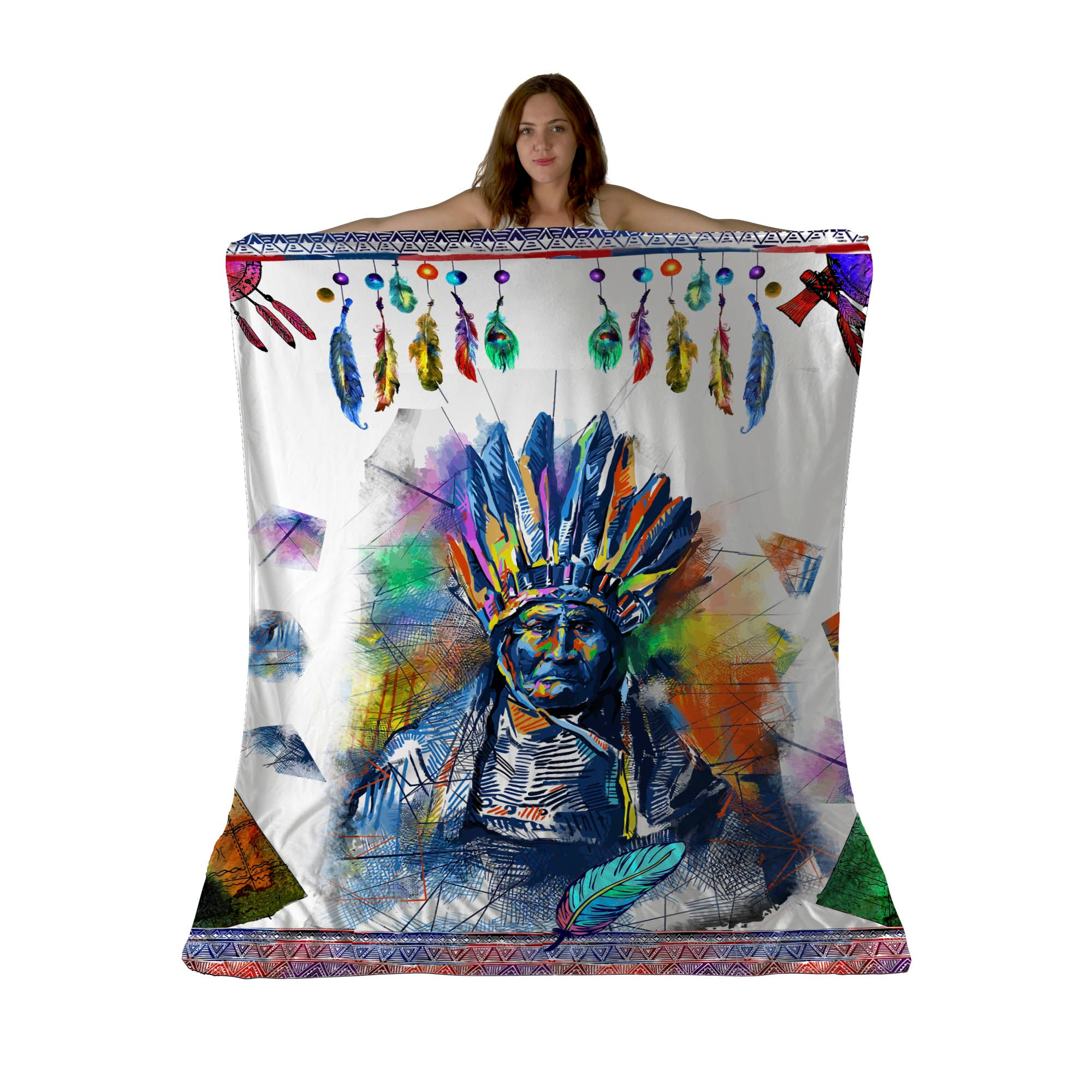 Colors Of The Wind Sherpa Fleece Blanket