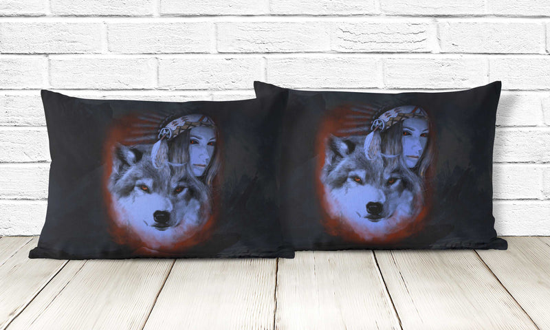 My Wolf My Spirit Pillowcase