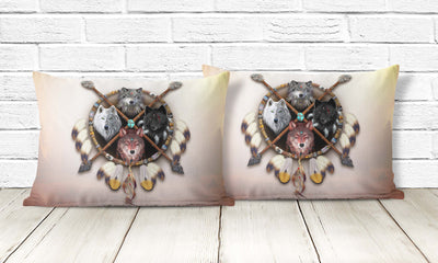 4 Wolves Warrior Pillowcase