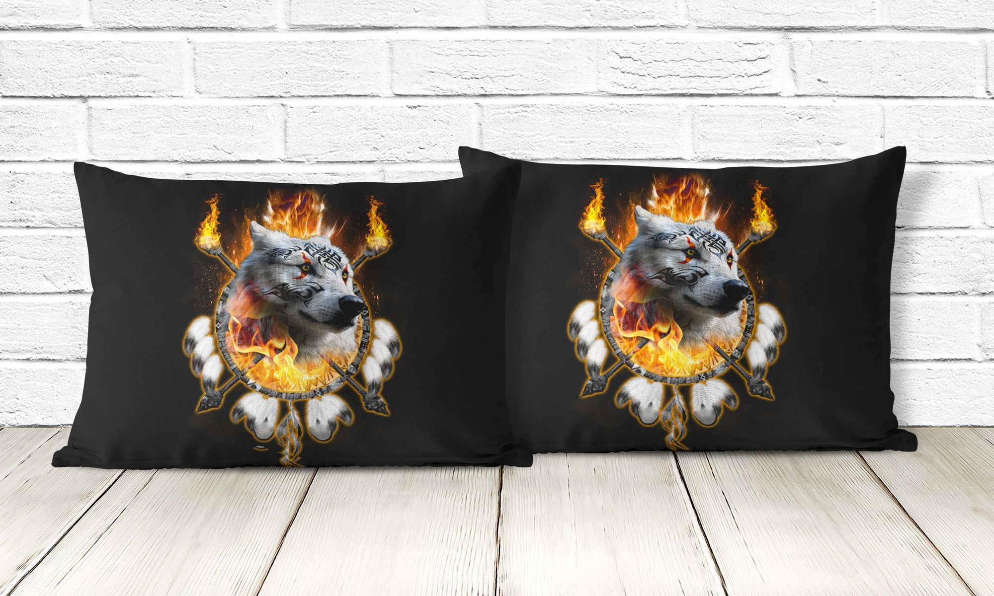 Fire Wolf Chief Pillowcase