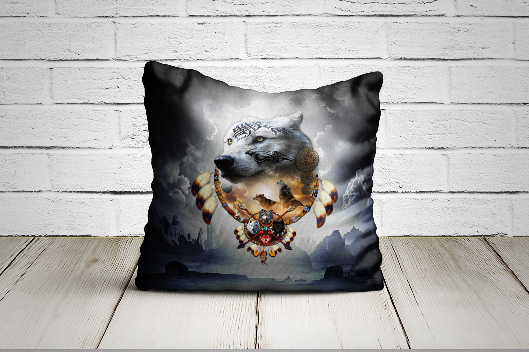 Songs of the Elder Warrior Pillow Case Dark