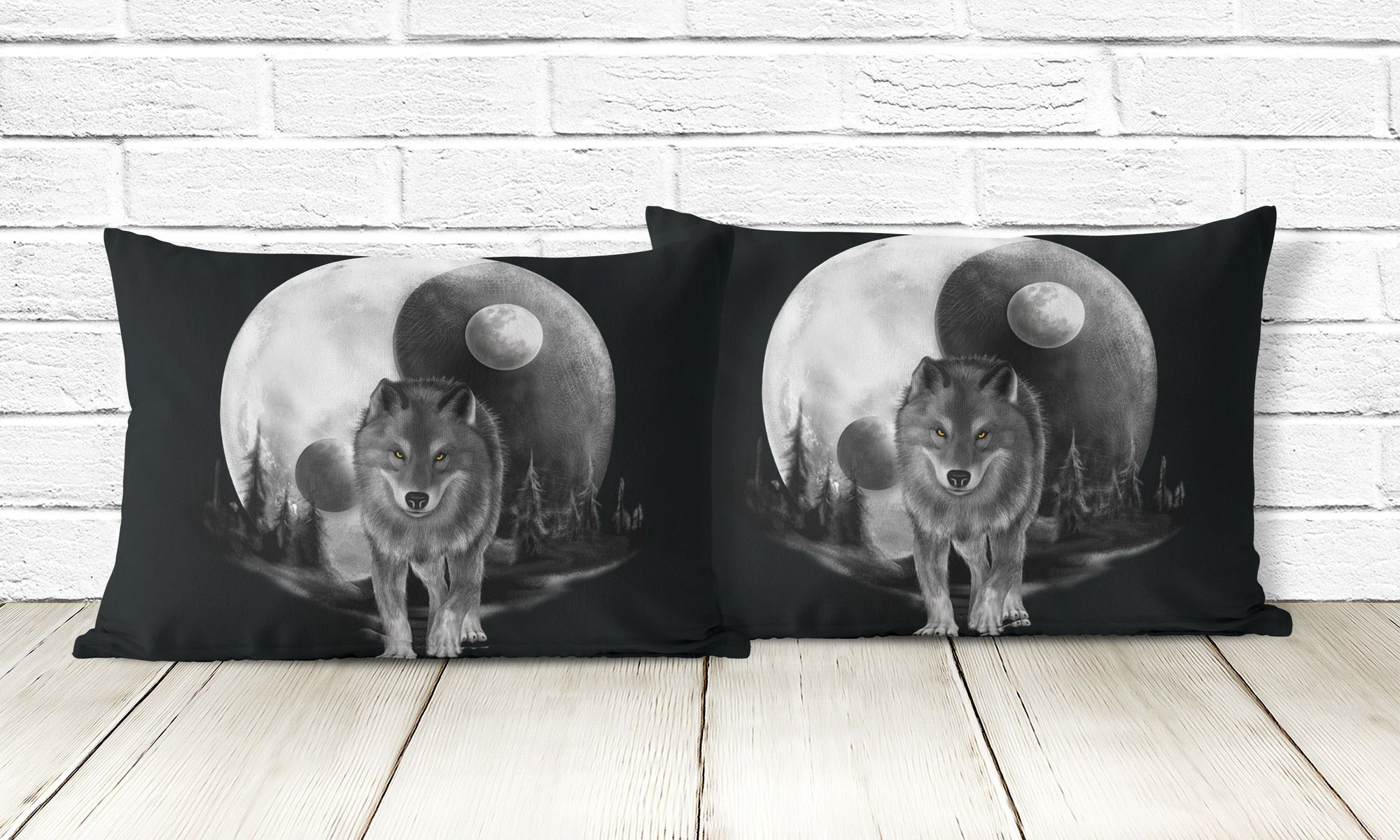 Luna Moon Wolf Pillowcases