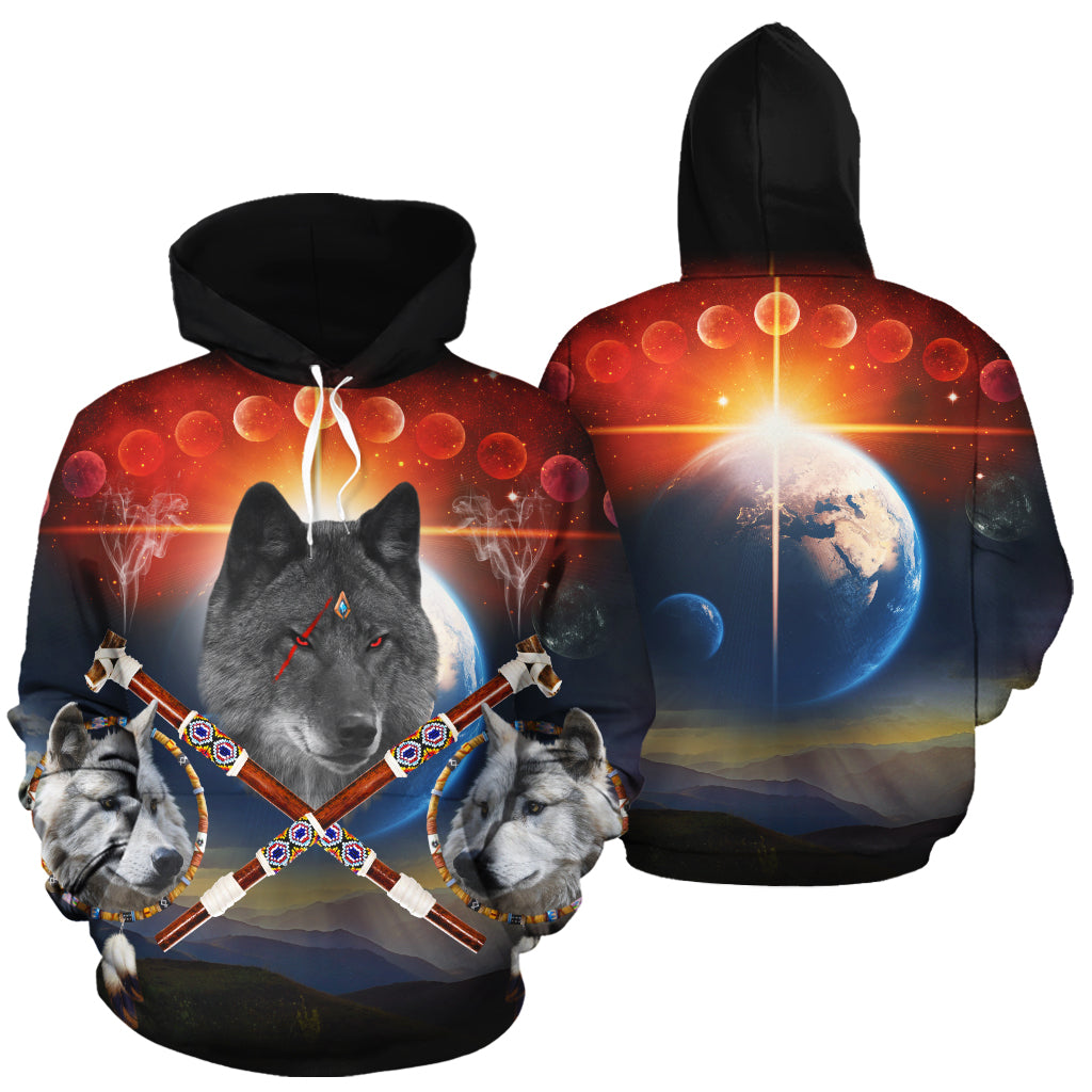 Guardian of Peace Black All Over Print Hoodie
