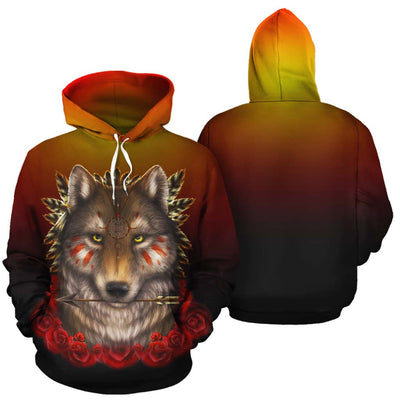 Khalia's Wolf Warrior All Over Print Hoodie