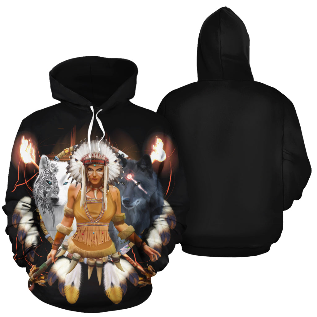 Scarlett Wolf All Over Print Hoodie