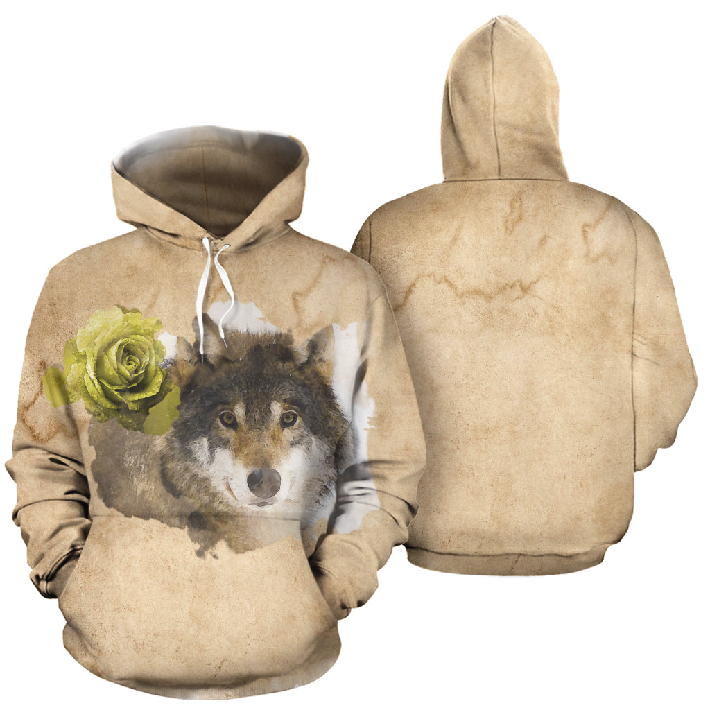 Mirage Wolf All Over Print Hoodie