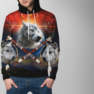 Guardian of Peace White All Over Print Hoodie