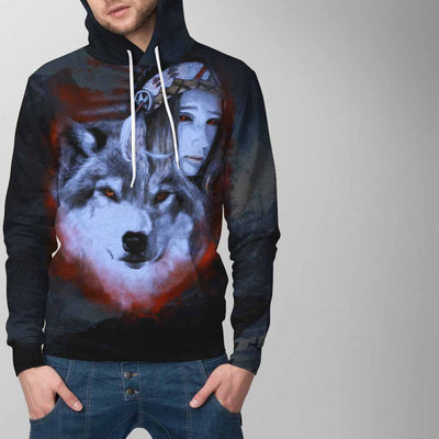 My Wolf My Spirit All Over Print Hoodie