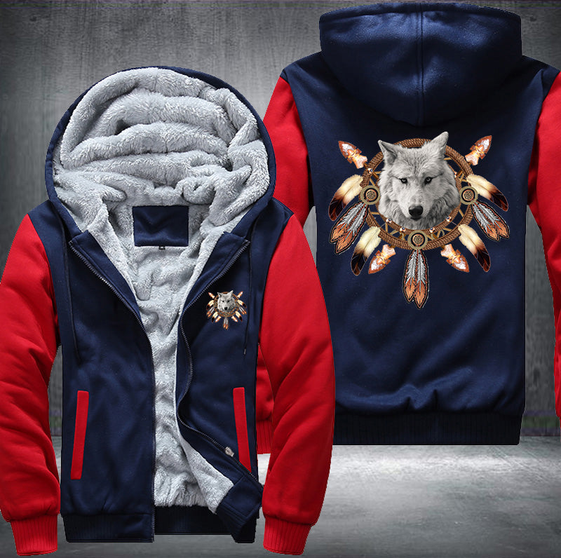 Dreamcatcher Wolf Fleece Zipper Jacket
