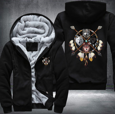 4 Wolves Fleece Zipper Jacket