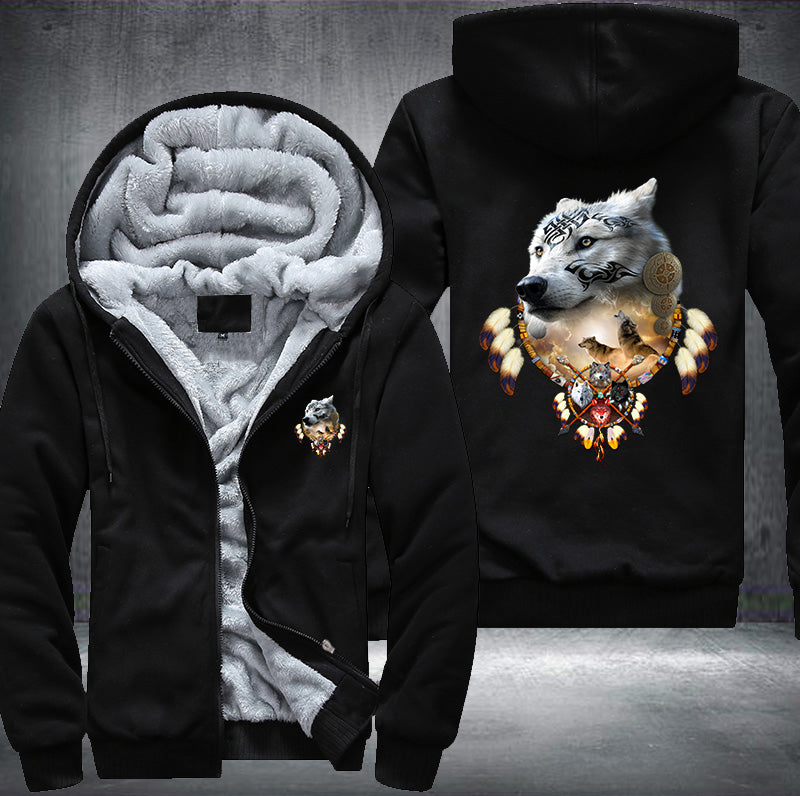Song Of The Elder Warrior Fleece Zipper Jacket