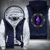 Purple Blazing Wolf Fleece Zipper Jacket
