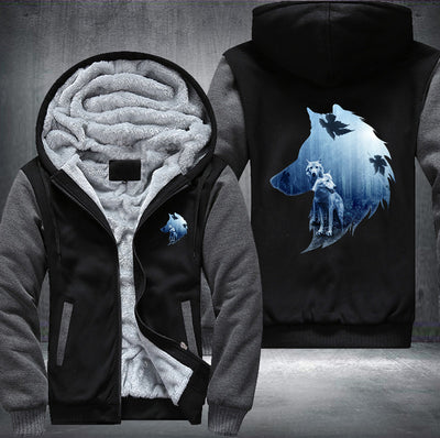 Wolf Spirit Fleece Zipper Jacket