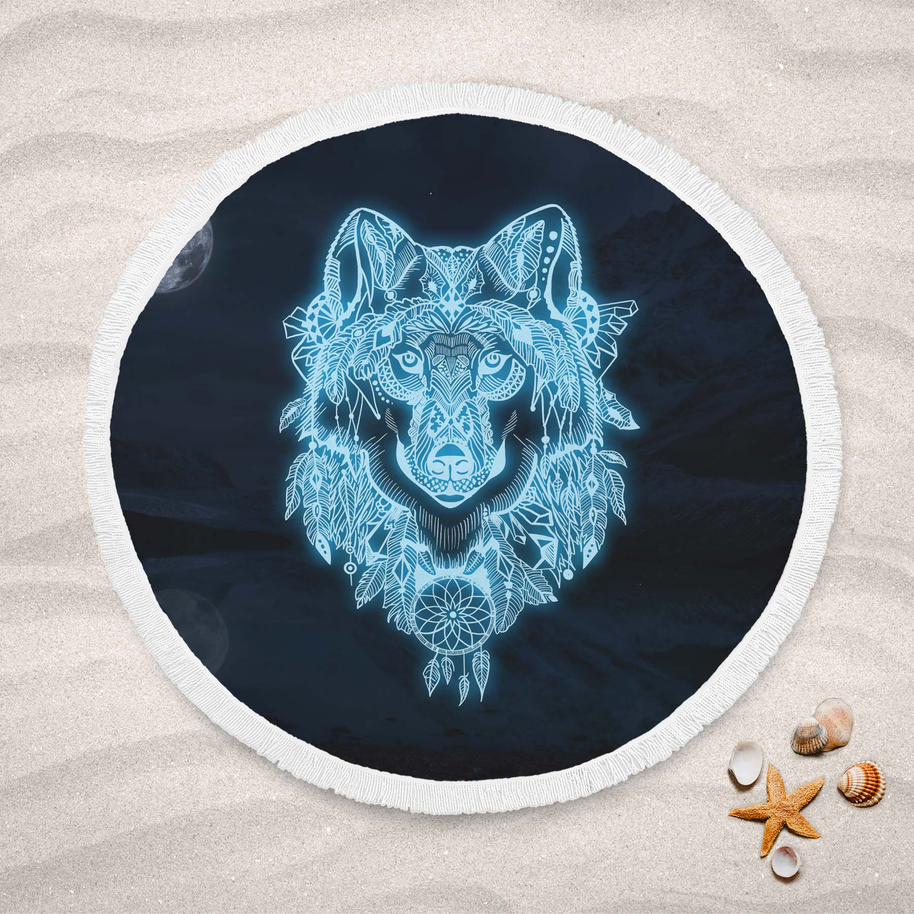 Lucien Round Beach Towel