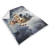 Songs of the Elder Warrior Sherpa Blanket Dark
