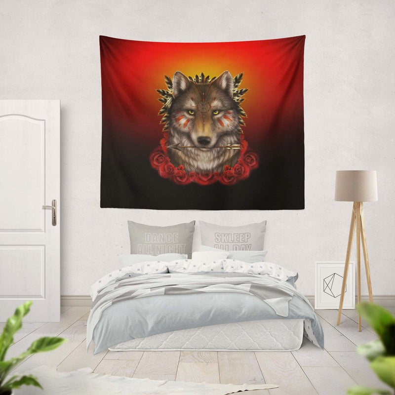 Khalia's Wolf Warrior Tapestry