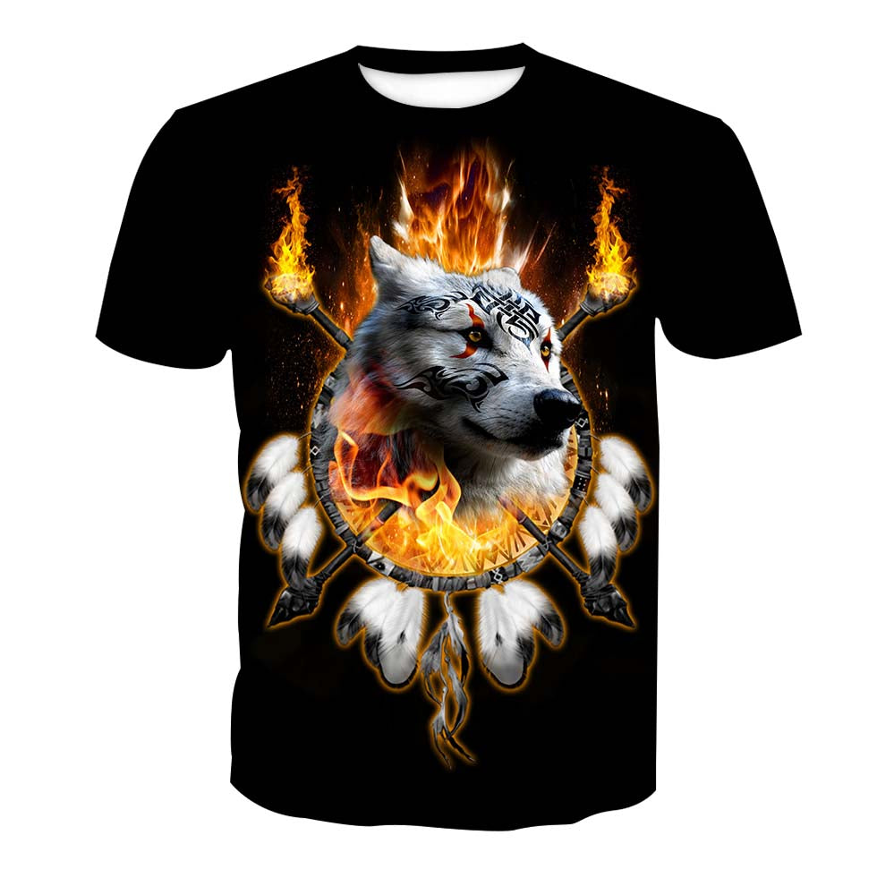 Fire Wolf Chief Shirt
