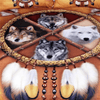 4 Wolves Bedding Set
