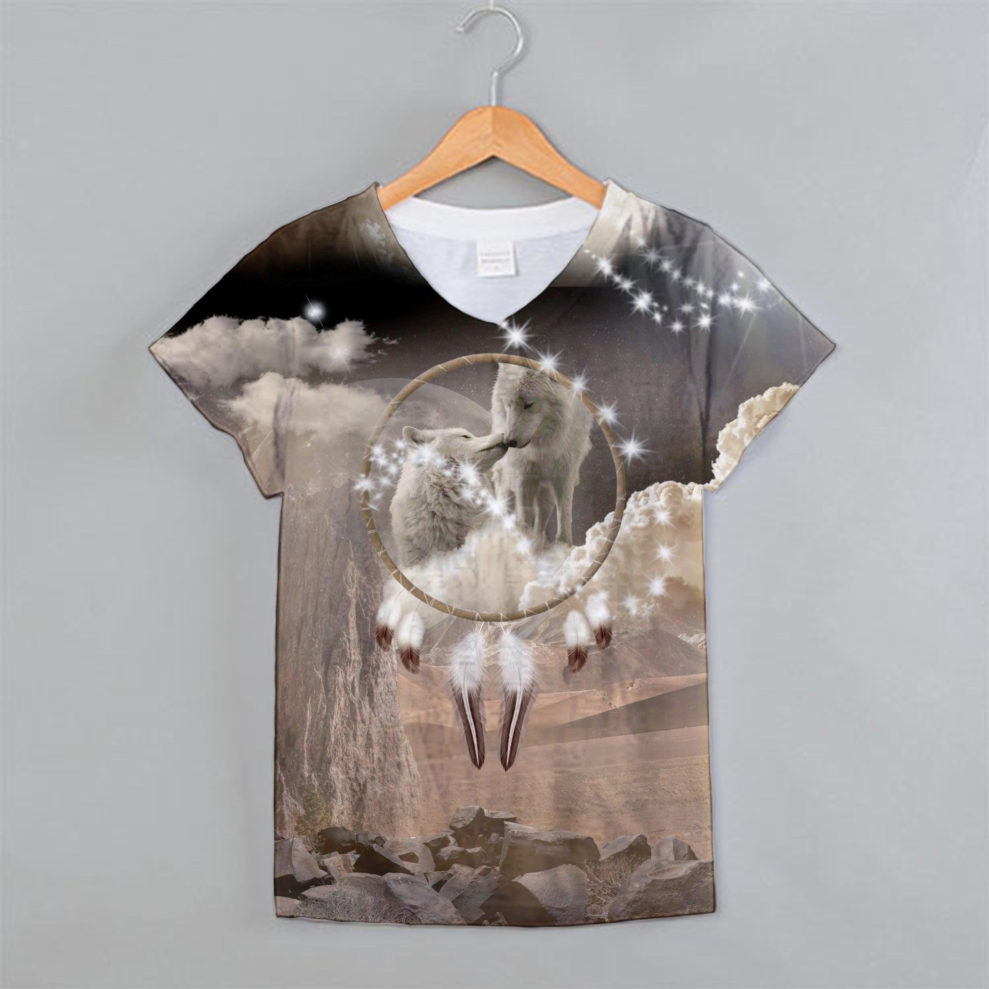 King and Queen of Dreams V-Neck Shirt