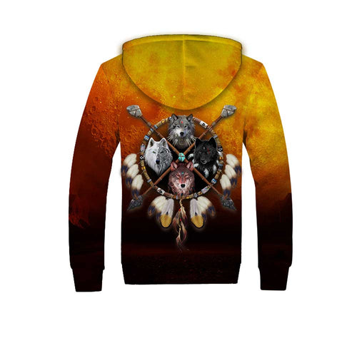 4 Wolves Warrior Winter Hoodie