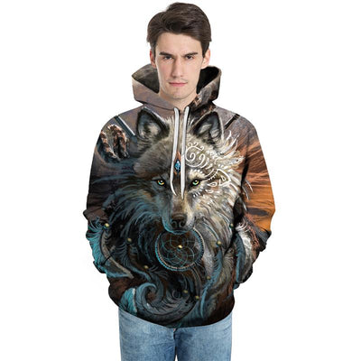 The Wolf Warrior All Over Print Hoodie