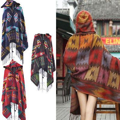 Native Hooded Poncho