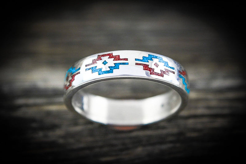 Native American Zia™ Ring 925 Sterling Silver