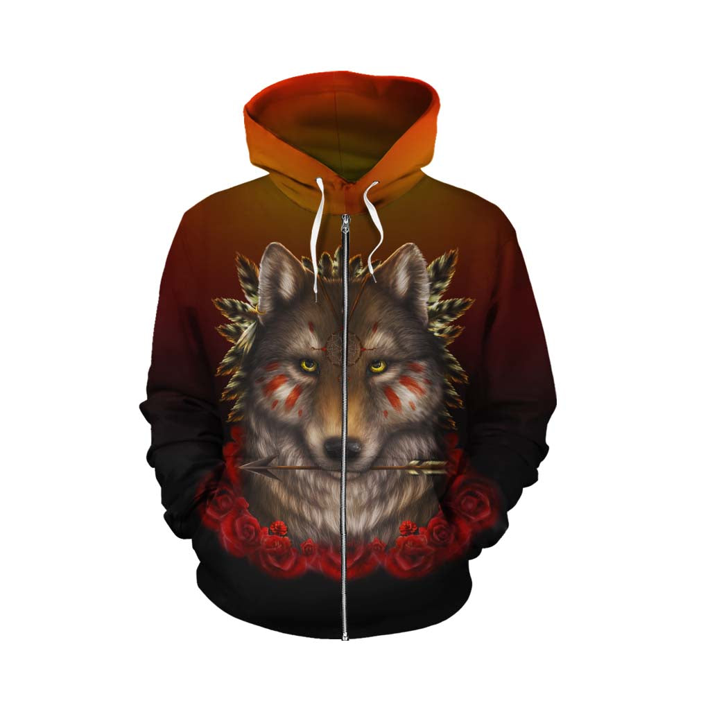 Khalia's Wolf Warrior Zip Up Hoodie