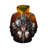 4 Wolves Warrior Zip Up Hoodie