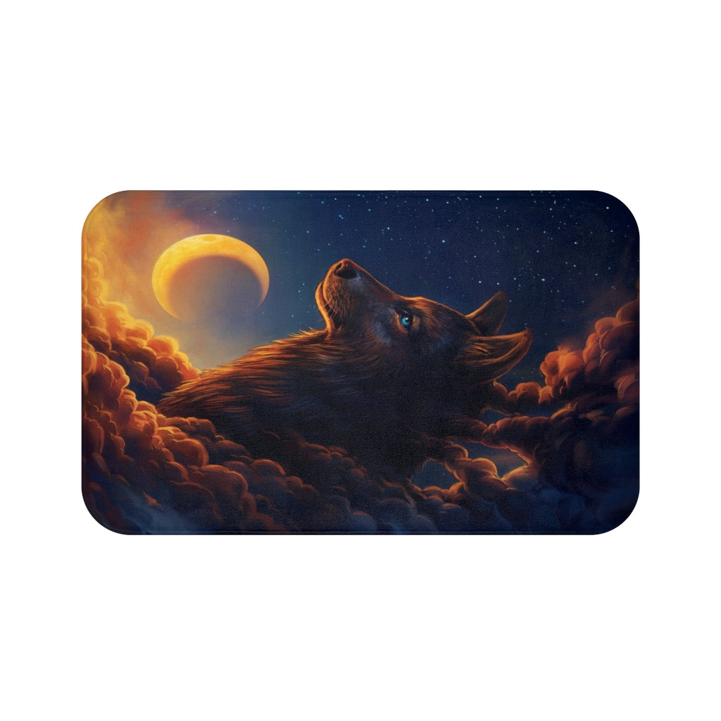 Night Guardian by Jojoes Art Bath Mat