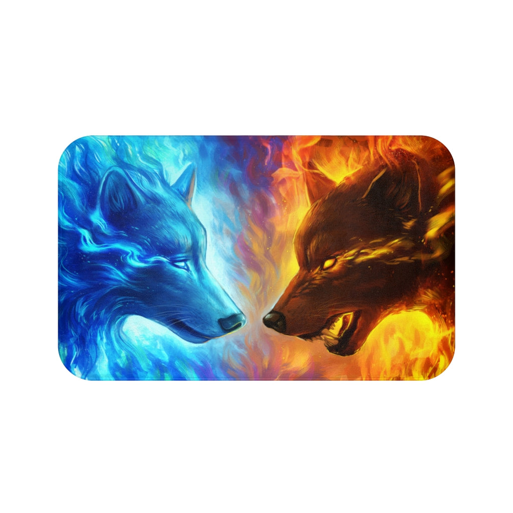 Fire and Ice by Jojoes Art Bath Mat
