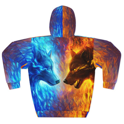 Fire and Ice by Jojoes Art All Over Print Hoodie