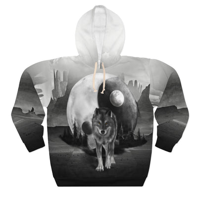 Luna Moon Wolf All Over Print Hoodie
