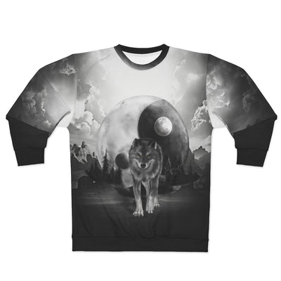 Luna Moon Wolf All Over Print Sweatshirt