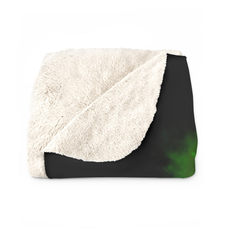 Day and Night Green Sherpa Fleece Blanket