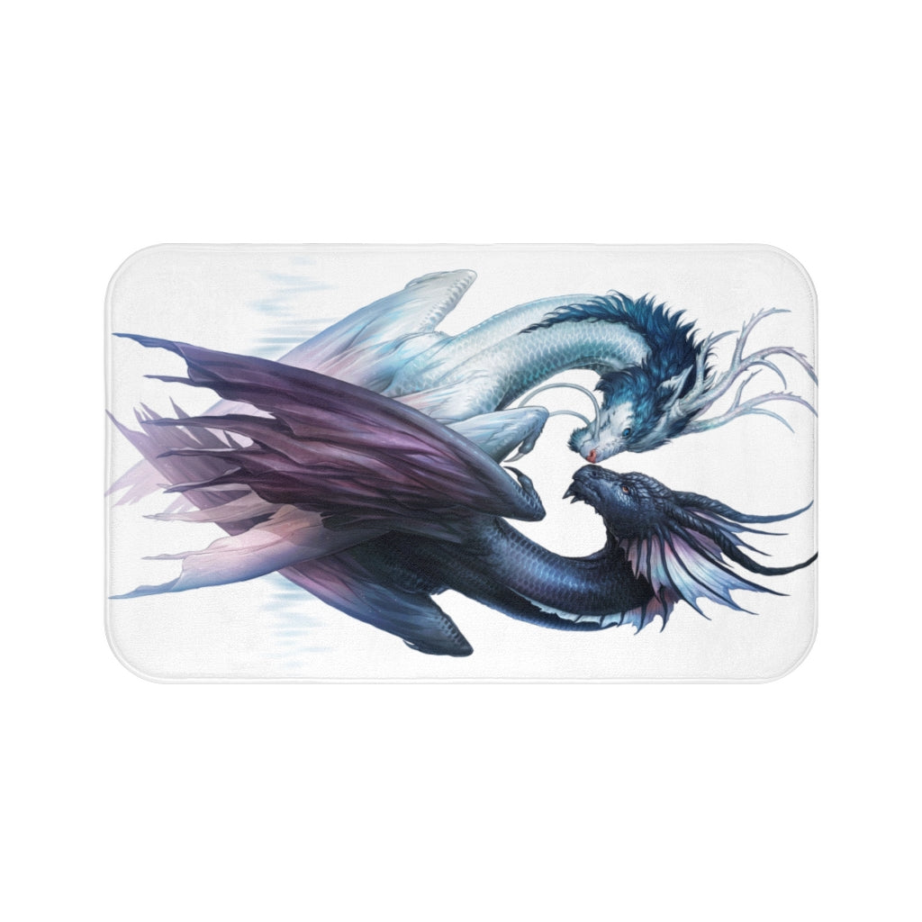 Yin and Yang Dragons Light by Jojoes Art Bath Mat