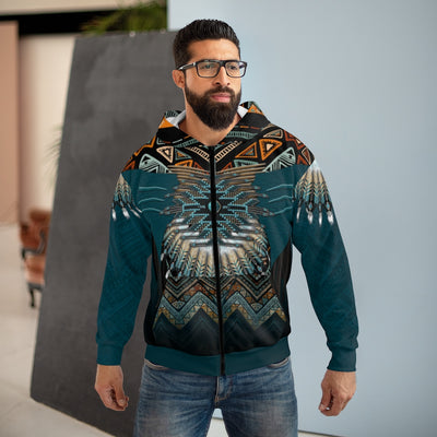 Blue Horizon All Over Print Zip Up Hoodie
