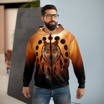 Blood Moon All Over Print Zip Hoodie
